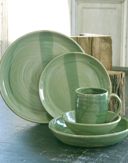 Spring Green Dinnerware & Juneau Dinnerware - Dodge Station Pottery